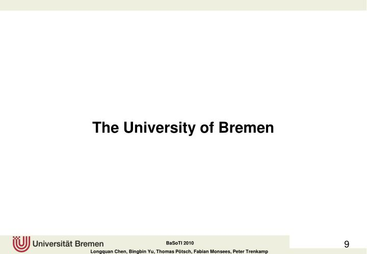 The University of Bremen