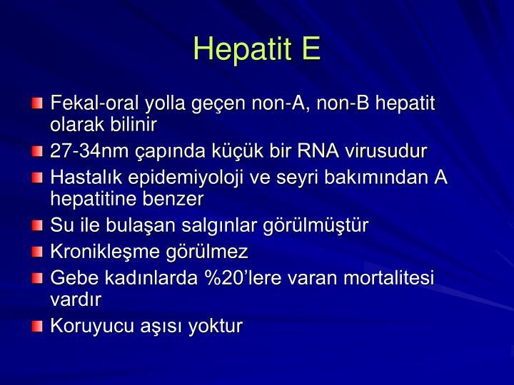 Hepatit E