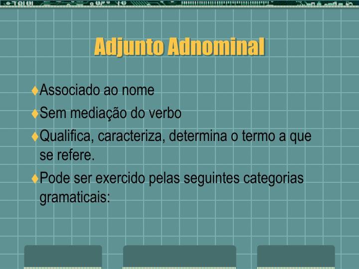 Adjunto Adnominal