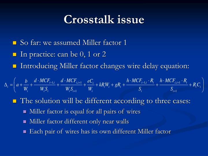 Crosstalk issue