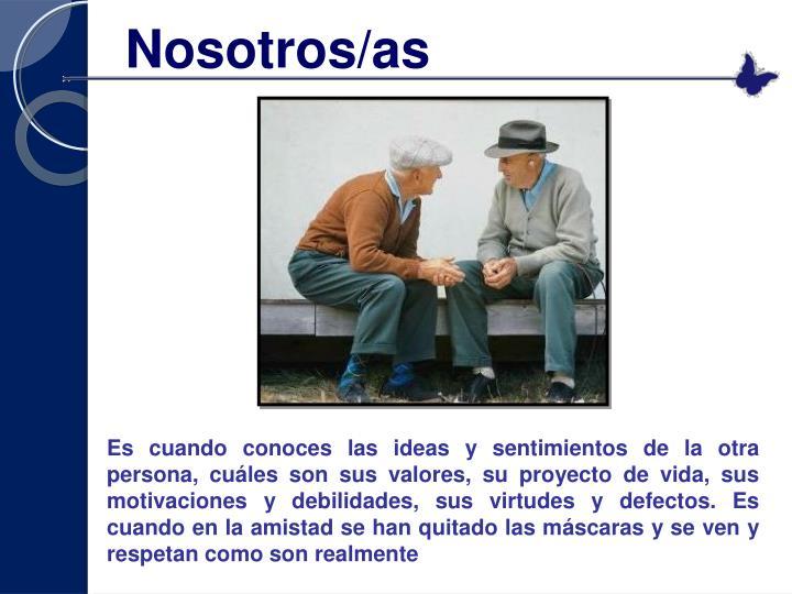 Nosotros/as