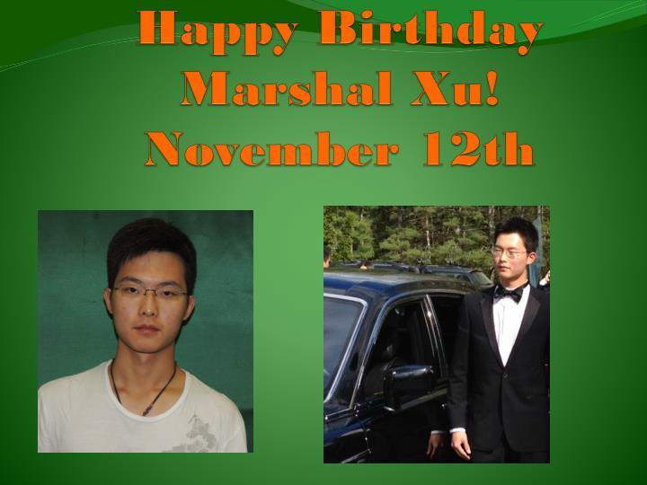 Happy Birthday Marshal