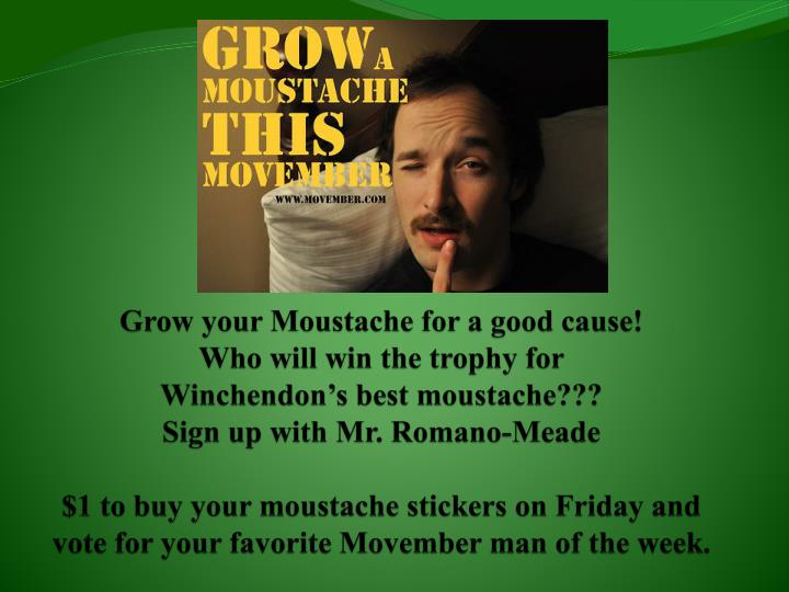 Grow your Moustache for a good cause!