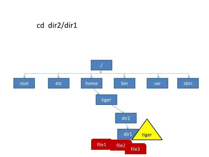 cd  dir2/dir1