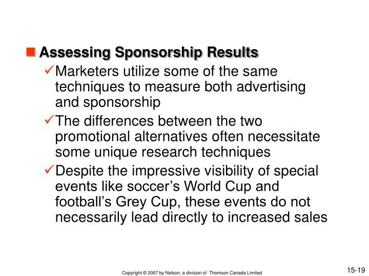 Assessing Sponsorship Results