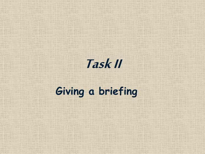 Task II