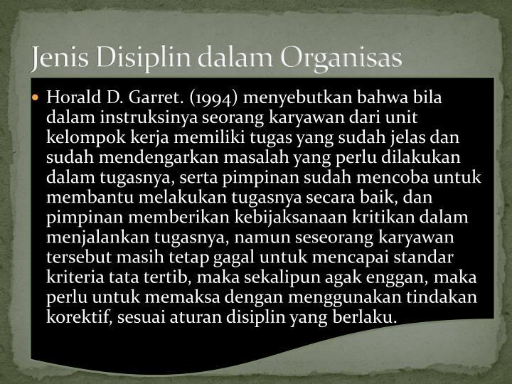 Jenis Disiplin dalam Organisas