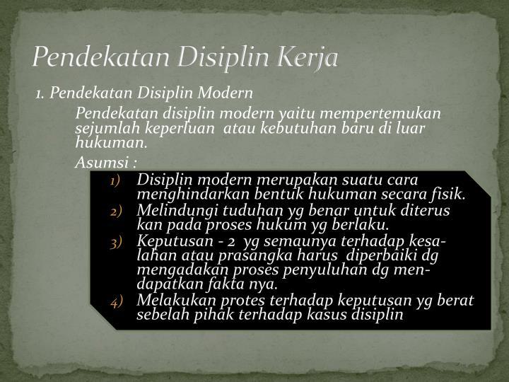 Pendekatan Disiplin Kerja