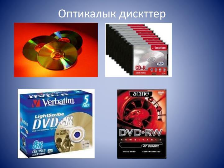 Оптикалык дискттер