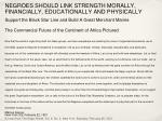 negroes should link strength morally financially educationally and physically
