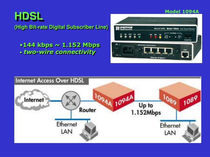 144 kbps ~ 1.152 Mbps