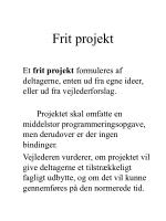 frit projekt