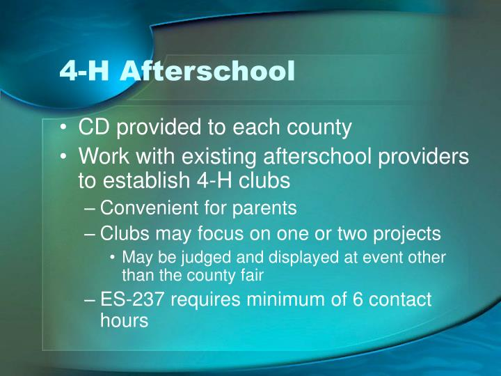 4-H Afterschool
