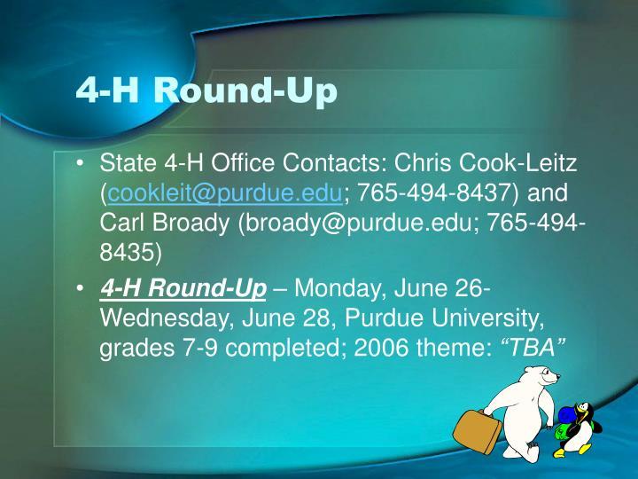 4-H Round-Up