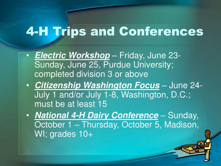 4-H Trips and Conferences