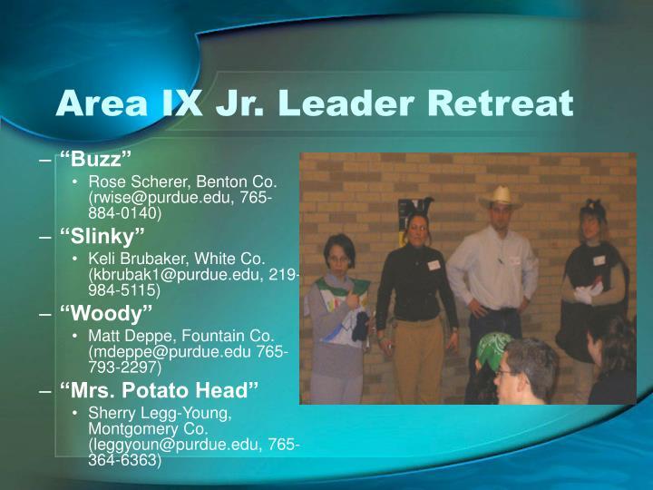 Area IX Jr. Leader Retreat