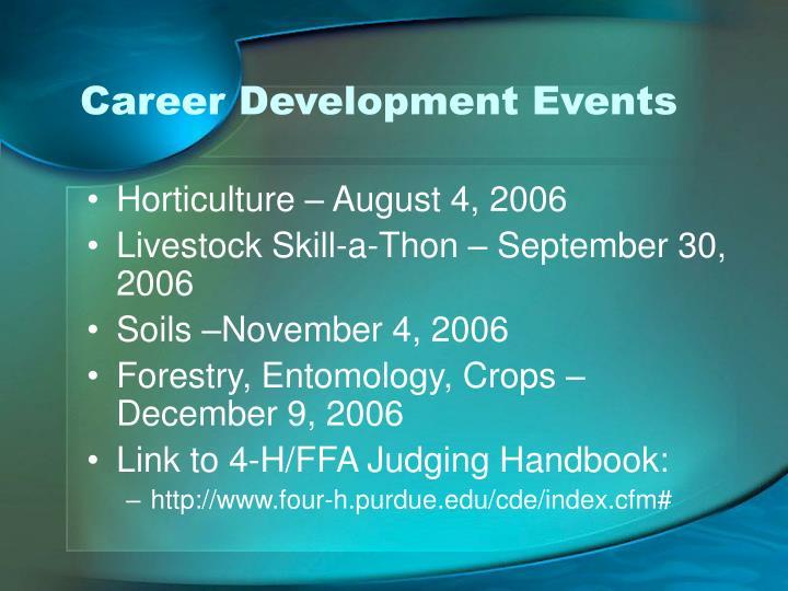 Career Development Events