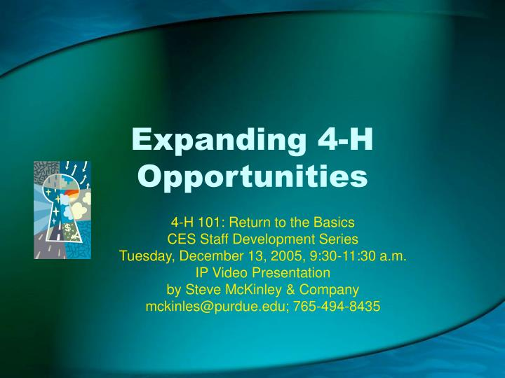Expanding 4 h opportunities