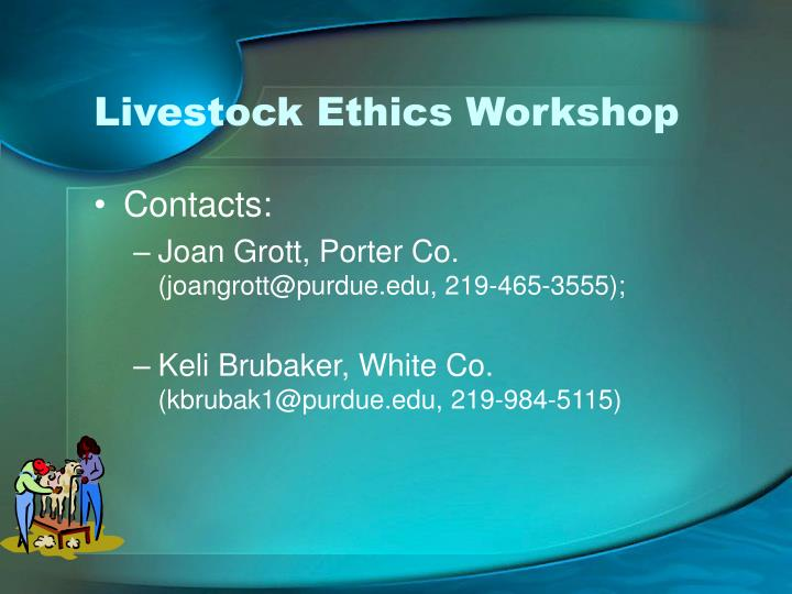 Livestock Ethics Workshop
