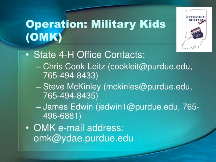 Operation: Military Kids (OMK)