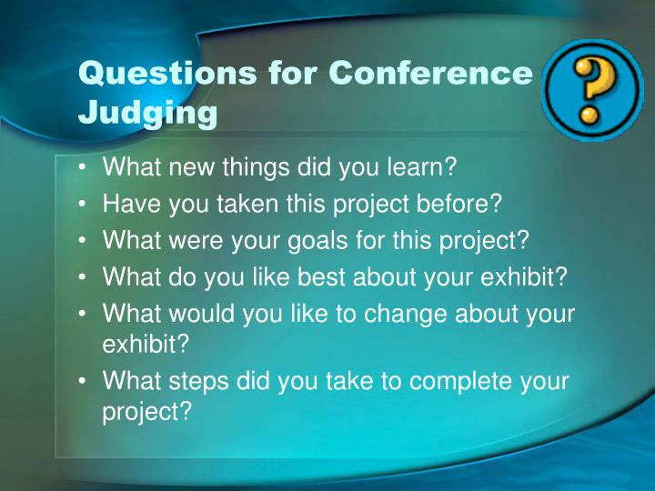 Questions for Conference Judging
