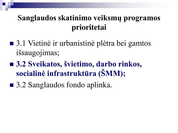 Sanglaudos skatinimo veiksmų programos prioritetai