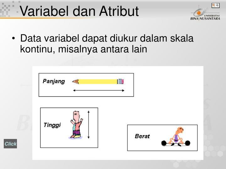 Variabel dan Atribut