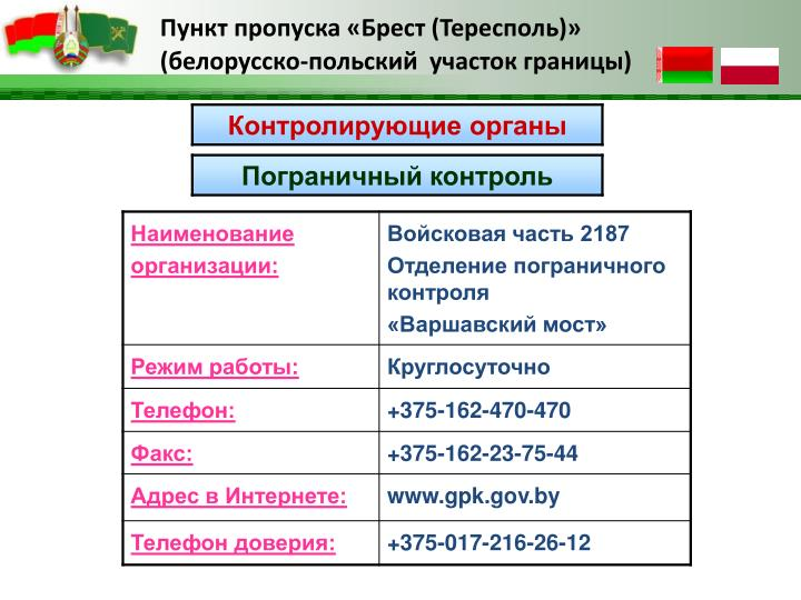 Пункт пропуска «Брест (Тересполь)»