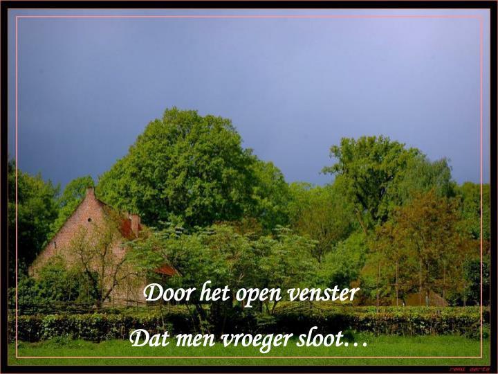 Door het open venster