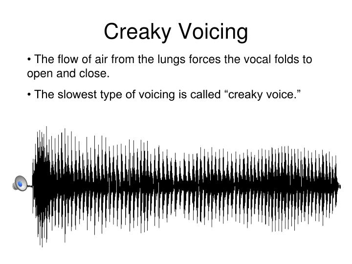 Creaky Voicing