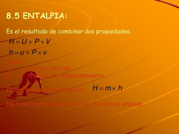 8.5 ENTALPIA: