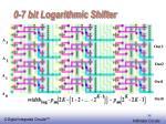 0 7 bit logarithmic shifter