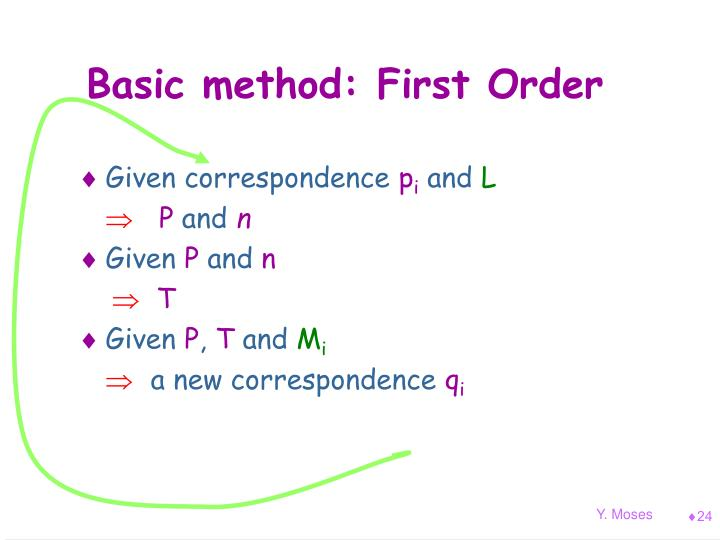 Basic method: First Order