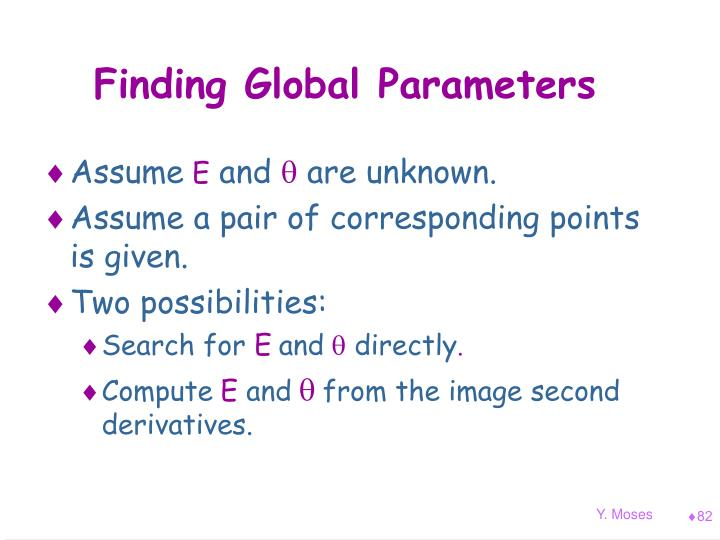 Finding Global Parameters