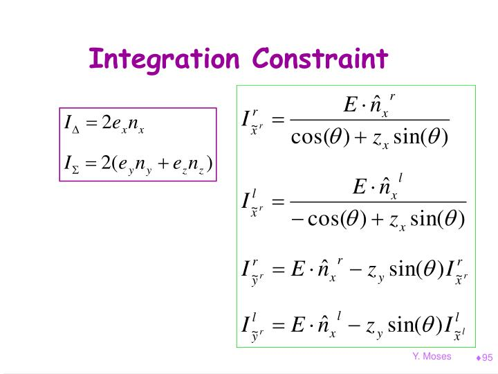 Integration Constraint