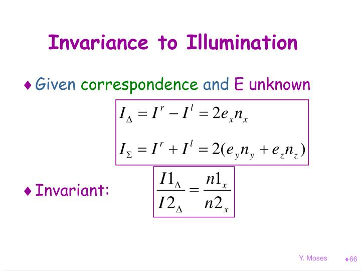 Invariance to Illumination