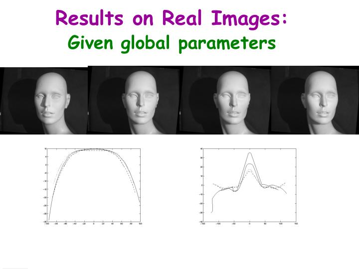 Results on Real Images:
