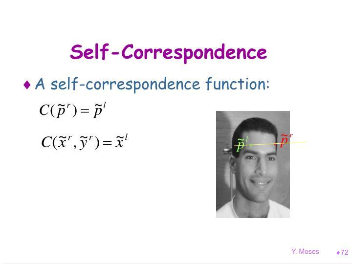 Self-Correspondence
