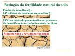 redu o da fertilidade natural do solo