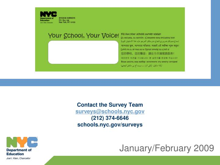 Contact the Survey Team