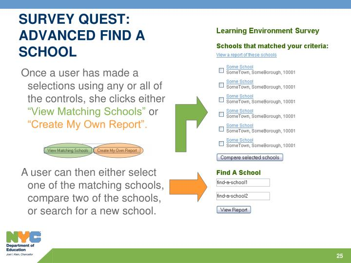 SURVEY QUEST: ADVANCED FIND A SCHOOL