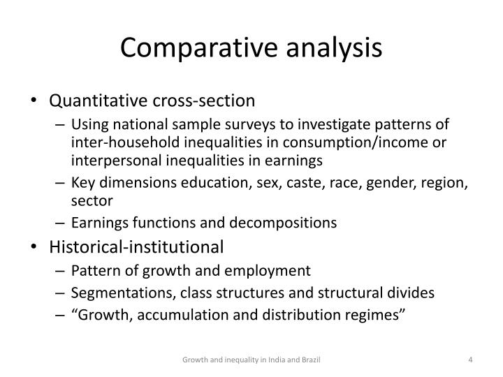 Comparative analysis