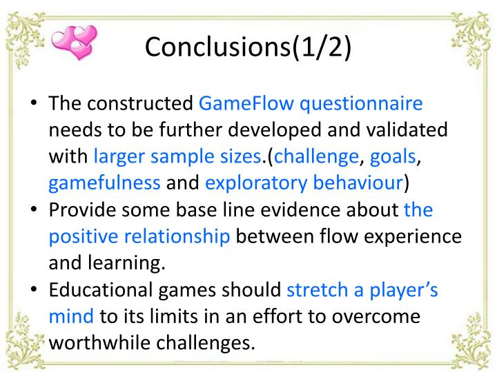 Conclusions(1/2)