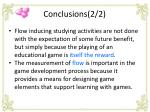 conclusions 2 2