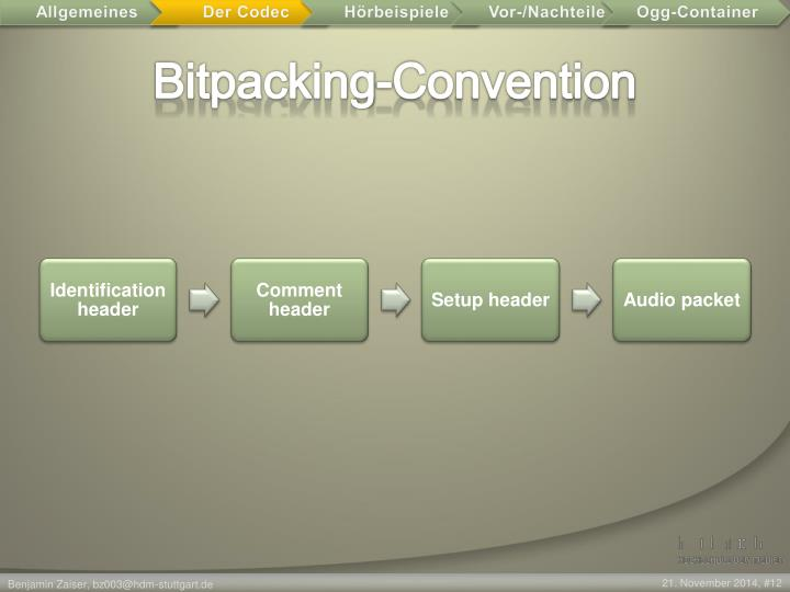 Bitpacking-Convention