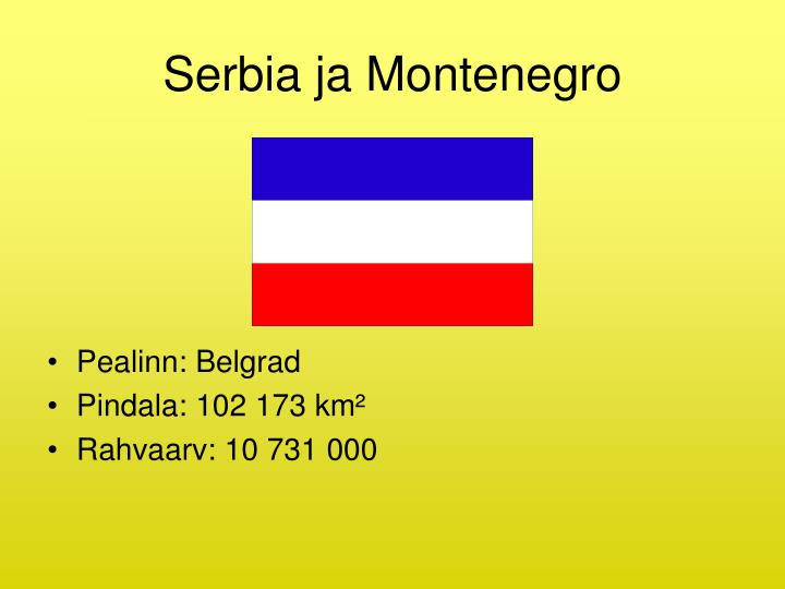 Serbia ja Montenegro