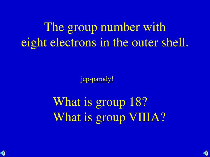 The group number with