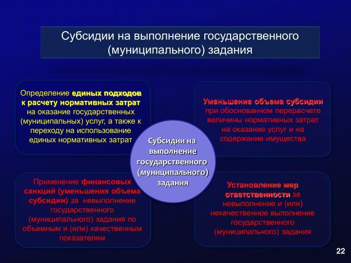 Субсидии на выполнение государственного (муниципального) задания