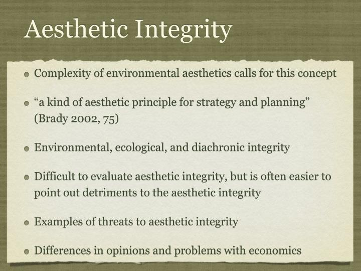 Aesthetic Integrity