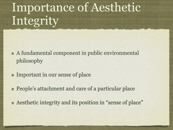 Importance of Aesthetic Integrity